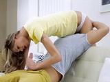 Hot Sensual Blonde Pleases Her Boyfriend