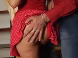 Grabbed For Ass Milf Gets Fucked By Daughters Boyfriend