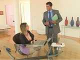 Busty Secretary Provokes Too Hard Horny Boss With Her Giant Tits