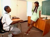 Ebony Cougar Milf Sex Teacher Vengeance Pimpin Fucks Young BBC Student In Classroom
