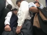 Busty Japanese Teen Couldnt Move Away From This Old Perverts Boner