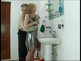 Daddy Attacked And Fucked Sons Wife In Toilette