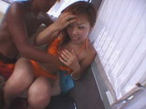 Amateur Busty Japanese Fucked In A Trailer By A Guys She Met On The Beach