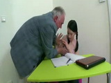 Perverted Old Teacher Tricks Naive Teen To Fuck Her