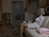 Tired From Work Hot Japanese Milf Masturbates Her Pussy Before Sleep