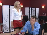 Hot Blonde Waitress Wants To Make Divorcced Customer Forget About His Wife