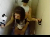 Wasted Chick Gets Fucked In A Toilet By Bartender