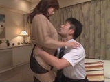 Cheating Housewife Miyabe Ryohana Barely Could Wait Her Husband To Fall Asleep So She Could Fuck His Driver