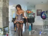 Japanese Milf Dildoing And Assfucked Near The Piano