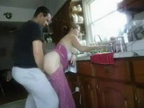 Morning Quickie With Dish Washing Wife In Kitchen Homemade