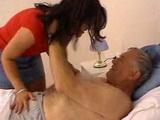 Pervert Old Grandpa Fucks Grandsons Wife