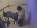 Japanese Schoolgirl Caught Fucking Her Classmate On A Stairway During Classes