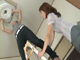 Step Son Changes Bulb Step Mother Hiromi Takeuchi Rewards With Blowjob