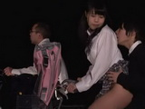 After Practice Japanese Teen Took Her Friend For A Interesting Ride Home After Which He Fucked Her In Front Of Her Paren