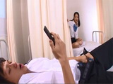 Japanese Schoolgirl Caught Her Classmate Jerking n Her Photo In A School Ambulance
