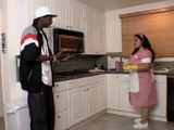 BBW Latina Mexican Maid Gets Fucked By Black Cable Guy