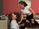Assistant Is So Happy When Kinky Boss With Big Tits Punishing Him This Way