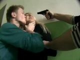 Kidnapped Blonde Hottie Gets Brutally Anal Raped By 2 Guys At Gun Point