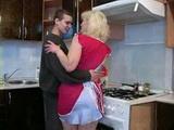 Stepmother Will Have Strange Adventure With Her Teenage Stepson In Kitchen