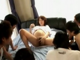 Pregnant Japanese Woman Gets Gangbanged and Creampied By Bunch Of Guys Uncensored