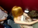 Partyslut Rides A Guy On A Toilet And Gets Busted