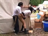 Japanese Girl Abused And Gets Facial On Village Fair