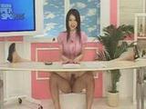Sexy News Reporter Fucks While Reading News