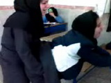 Arab Hijab Teens Having Fun In Classroom