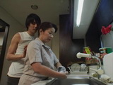 Mature Japanese Mom Interrupted While Washing Dishes By Immodest Daughters Boyfriend