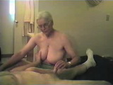 Homemade Amateur Granny Giving Handjob to Grandpa
