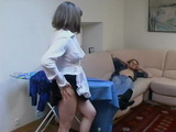 Busty Mature Housemaid Can Help To Relive Young Boy