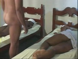 2 Sleeping Ebony Slave Women Anal Fucked By Their Master