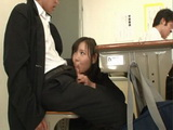 Perverted Teacher Secretly Fucks Student In Classroom