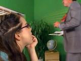 Geography Teacher Gets Seduced By Not So Innocent Nerd Schoolgirl