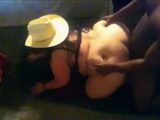 Chubby Cowgirl Gets Doggystyle Pounded By A Black Guy