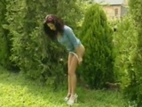 Mature MILF Caught Peeing Outdoor Gets Fucked By 2 Guys