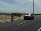 Hitchhiker Girl Gets GangFucked By 3 Guys In the Desert