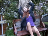 Poor Girl In Nylons Gets Strangled In The Park and Raped By Maniac