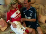 As a Good Coach Dad Likes To Keep His Soccer Daughter In Excellent Shape