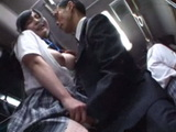 Returning From School In The Bus Young Asian Girl Was Molesting By Pervert Guy