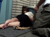 Japanese Girl Fell Asleep In A Wrong Place