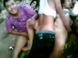 Three  Rabble Shagging Vietnamese Slut
