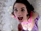 Beautiful Brunette Babe Gets Fucked In The Public And Swallowed Cum For Money