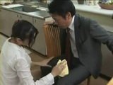 Clumsy Housewife Risa Murakami Gets Fucked By Stranger After Accident With Coffee