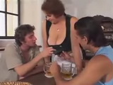Busty Mature Barmaid Banged Hard By Two Customers