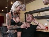 Busty Babe Kleio Valentien Fucking A Customer In A Bar