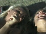 2 Kinky Bitches Sharing Cum After Having Anal Outdoor Experience Together