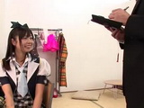 Japanese Model Suwon Mako Gets Fucked By Reporter Who Came In Her Dressingroom To Take An Interview