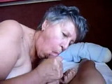 Homemade Granny Blowjob