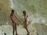 European Couple have Sex on the Beach